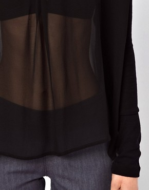 Image 3 of Dagmar Filisa Silk Blouse With Knitted Sleeves