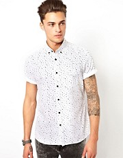 River Island Short Sleeve Shirt with Star Print