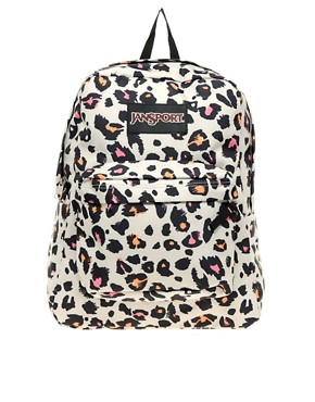 Image 1 ofJansport Superbreak Backpack with Cheetah Print