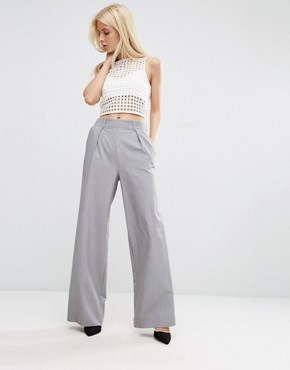 ASOS Wide Leg Trousers with Pleat Detail