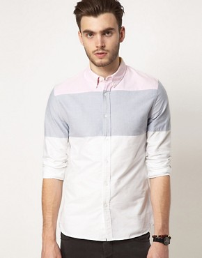 Image 1 ofASOS Oxford Stripe Shirt