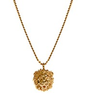 Bill Skinner Lion Pendant Necklace With Crystal Back Detail