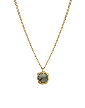 Image 4 ofBill Skinner Lion Pendant Necklace With Crystal Back Detail