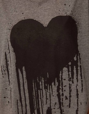 Image 3 of ASOS T-Shirt with Drippy Heart