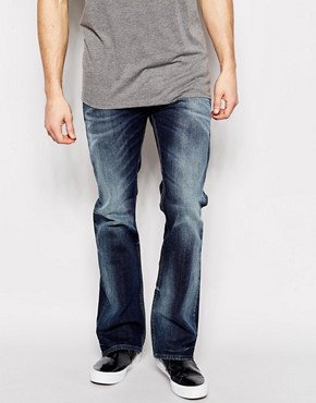 Diesel Jeans New Fanker 839F Slim Bootcut Dark Wash