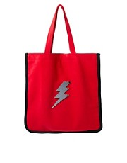 Koku Lightning Bolt Red Shopper