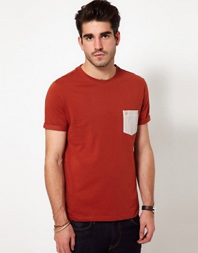 Image 1 ofFarah Vintage T-Shirt with Contrast Pocket