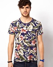 Scotch &amp; Soda T-Shirt With Floral Print