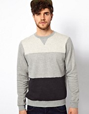 ASOS Sweatshirt 3 Color Cut And Sew