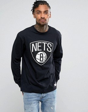 Mitchell & Ness NBA Brooklyn Nets Long Sleeve Top