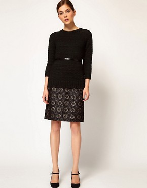 Image 1 ofRachel Comey Aquiline Skirt in Metallic Brocade