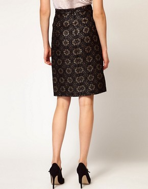 Image 2 ofRachel Comey Aquiline Skirt in Metallic Brocade