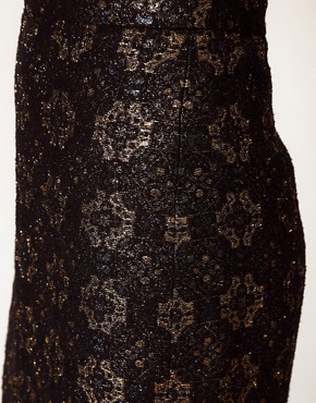 Image 3 ofRachel Comey Aquiline Skirt in Metallic Brocade
