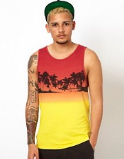 Vans Vest Palm Sunset Print