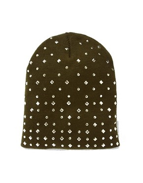 Image 2 ofASOS Mixed Stud Boyfriend Beanie