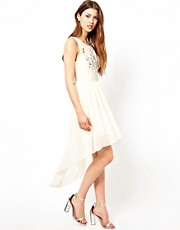 Lipsy Sequinned Dress With Dipped Hem