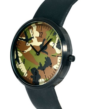 Image 3 ofASOS Contrast Round Face Watch