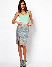 ASOS Pencil Skirt in Hologram Sequin