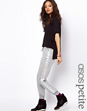 Pantaln de chndal con rayas hologrficas exclusivo de ASOS PETITE
