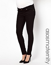 ASOS Maternity Elgin Black Skinny Jeans With Adjustable Waistband
