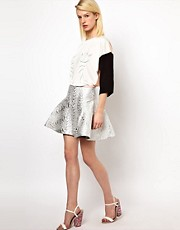 Antipodium Radial Skirt in Metallic