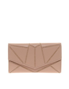 Image 1 ofRiver Island Mink Geometric Ball Chain Clutch