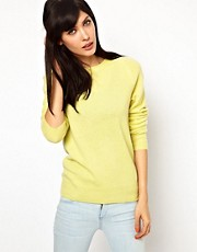 Equipment Sloane Crew Neck Cashmere Jumper in Sunlight