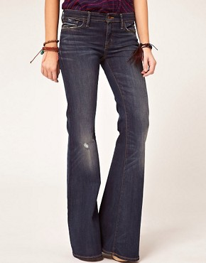 Image 1 of Denim & Supply By Ralph Lauren Bell Dark Wash Flared Jeans