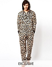 Sinstar Onesie Leopard Print Exclusive To ASOS