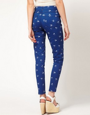 Image 2 of Oasis Swallow Print Jean