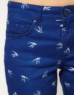 Image 3 of Oasis Swallow Print Jean