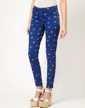 Image 1 of Oasis Swallow Print Jean