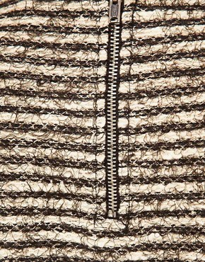 Image 3 of ASOS PU Trim Textured Tunic