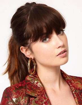 Image 2 ofSusan Caplan Exclusive For ASOS Vintage 70s Floral Hoops
