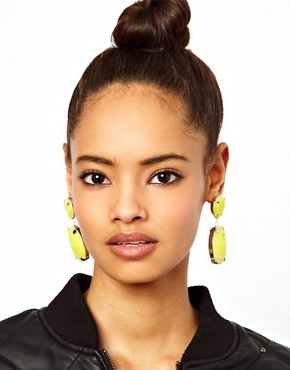 Image 2 ofASOS Gem Drop Earrings