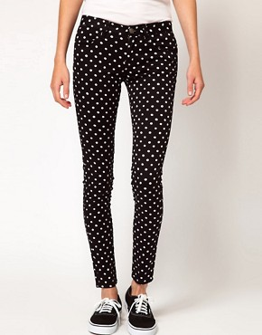 Image 1 ofb + ab Polka Dot Jeans