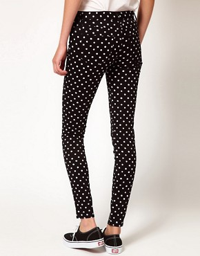Image 2 ofb + ab Polka Dot Jeans