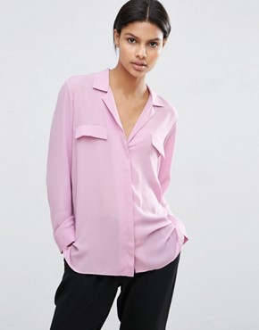 ASOS Clean Pyjama Blouse with Pocket Detail