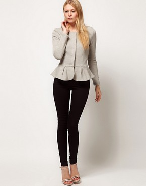 Image 4 ofASOS PETITE Peplum Jacket