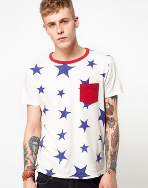 Image 1 ofLevi&#39;s Vintage T-Shirt Star Print