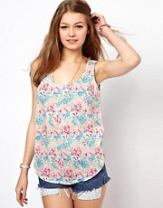 A Wear Dipped Hem Cami In Digital Print