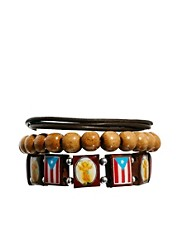 ASOS Wooden Bead Bracelet Pack