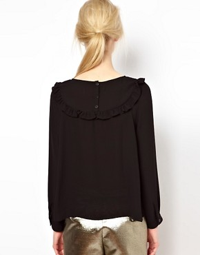 Image 2 ofBA&amp;SH Top with Frilled Bib Detail