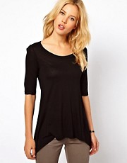 Mango Dip Hem Slouch T-Shirt