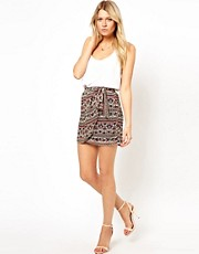 Mango Printed Sarong Skirt