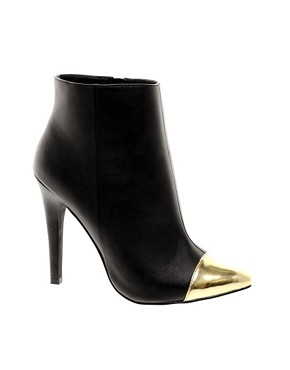 Image 1 ofASOS ARROW Point Ankle Boots with Toecap