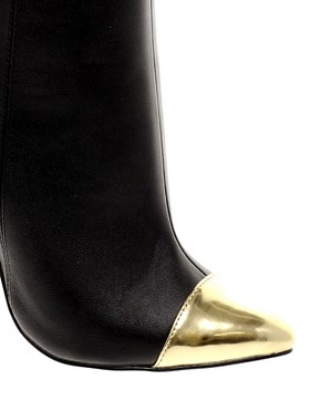 Image 3 ofASOS ARROW Point Ankle Boots with Toecap