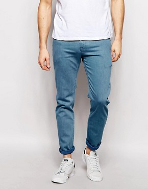 ASOS Stretch Slim Jeans in Flat Blue Wash