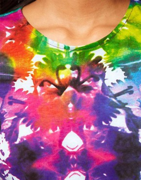 Image 3 ofMotel Box Crop Tee Tie Dye Flower