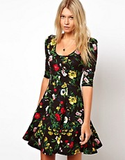 ASOS Skater Dress In Floral Print